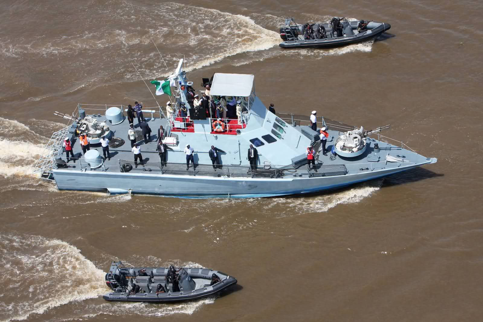 Navy parades 9 illegal petrol suspects with 92 drums of adulterated PMS in Ondo