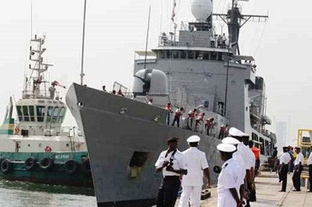LAGOS: Nigerian Navy rescues crew from burning fishing trawler