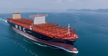 World's largest container ship, with capacity for 23,756 Containers sets sail