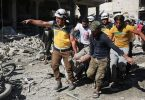 At least 43 killed in 'largest massacre' of latest Syria campaign