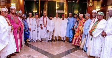President Buhari's Speech at the meeting with South West Obas