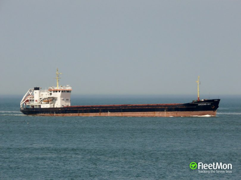 Freighter with timber bound for Sweden aground, Russian Inner Waterways