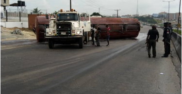 OTEDOLA Bridge: When a diesel Tanker truck keeps road users off home!