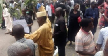 N25Bn: Benue pensioners hold church service at Government House gate