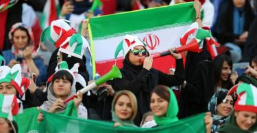 Iranian women in stadium after 40 year, as Iran take on Cambodia