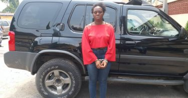 23-year-old girl arrested for stealing a Jeep, phones worth N1m