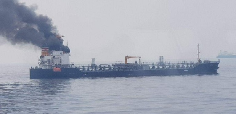 Fire Hits Tanker off Singapore, 18 Crew Evacuated