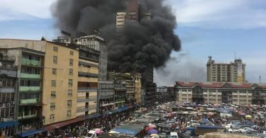 Policeman killed by Lagos Island burning building collapse