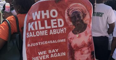 Women protest, demand justice for late Mrs Salome Abuh killed in Kogi