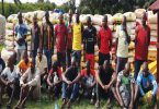 Navy seizes 1,831 bags of smuggled rice, arrests 24 suspects
