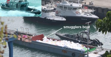 Customs boat capsized, 3 officers died, in collision with smugglers, Hong Kong