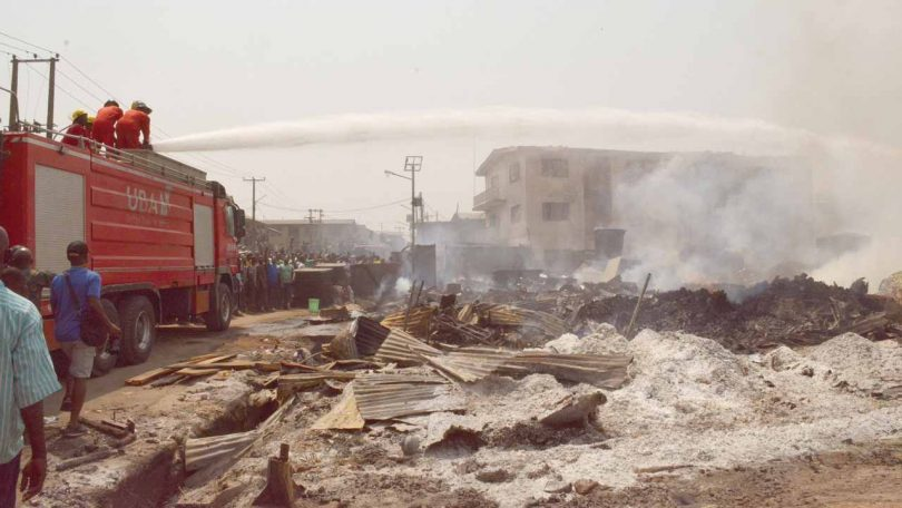 Mushin plank market, 4 other buildings ravaged by fire in Lagos