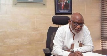 Ondo IGR now N2.2 bn monthly- Akeredolu