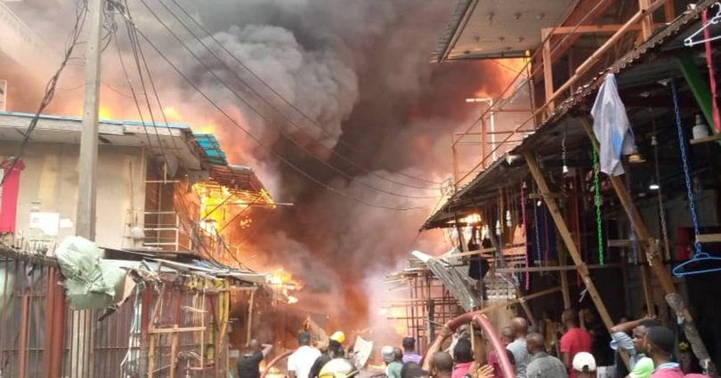 Generator explosion in Balogun Market destroys 7 buildings - LASEMA