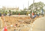 LASG: Construction Improvement works Begins at Allen Avenue and Maryland Roundabout in pictures...