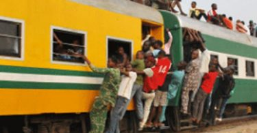 NRC warns Lagos commuters against sitting on train roof as it resumes service