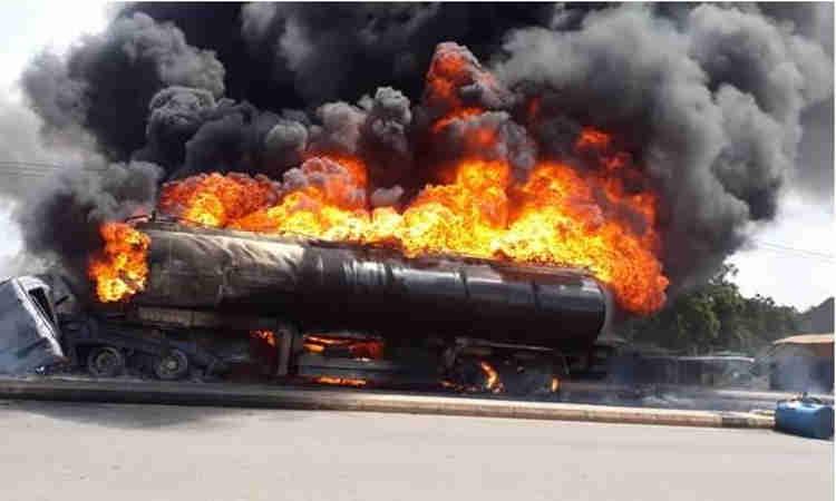 Fuel tanker burns in Onitsha again, no casualty – FRSC