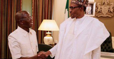 Oshiohmole meets Buhari, accuses PDP of planting Third Term Agenda