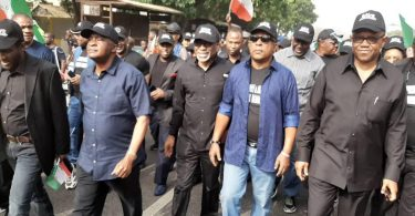 IMO Election: PDP National Chairman leads protest on Supreme Court judgment