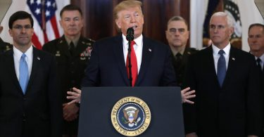 Trump says U.S. does not have to use military might against Iran