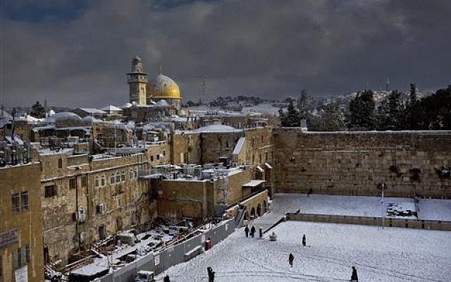 Israel to build train station near Western Wall in disputed Old City
