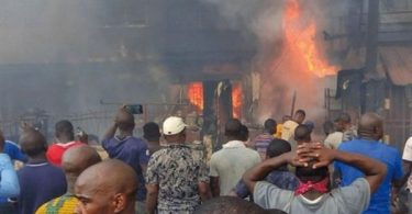LASEMA: Fire destroys 8 shops in Apongbon Market