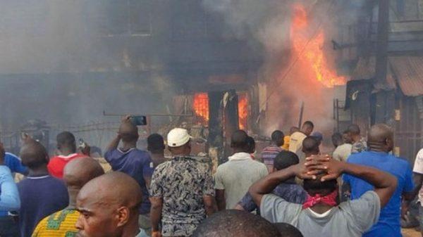 LASEMA: Fire destroys 8 shops in Apongbon Market