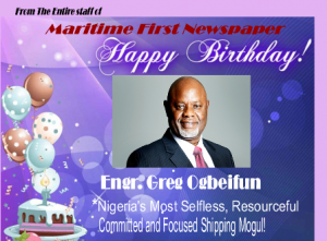 OGBEIFUN: Maritime First joins Stakeholders in Birthday Felicitations!