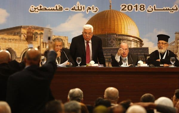 Palestinians are in an uproar (over the prospect of living in Palestine)