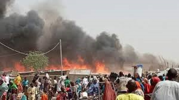 14 IDPs killed, 1,250 shelters destroyed by fire in Borno