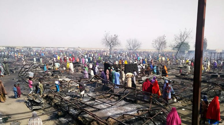 Fire razes 700 shelters in Borno IDPs camp