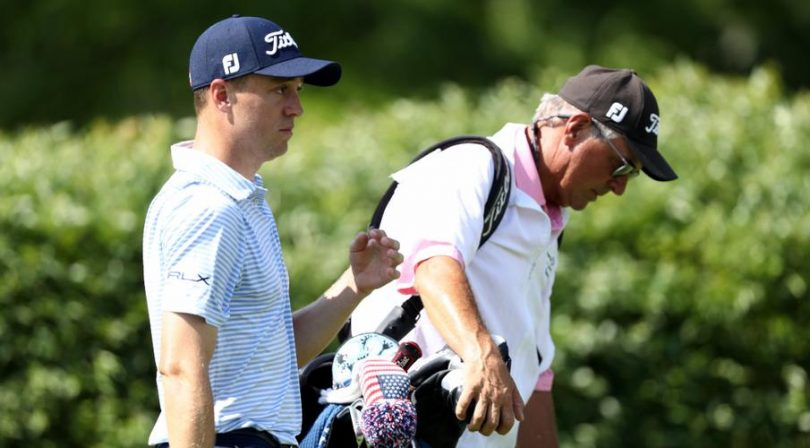 Dad to the rescue as golfer son's caddie falls ill at tournament