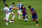 Suarez scores as Barca condemn neighbours Espanyol to relegation