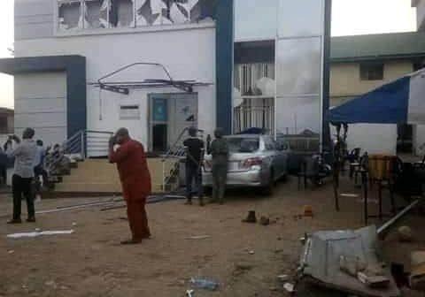Explosion injures 2 in bank premises in Oyo