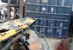 Falling Container kills 2 in Lagos, as gunmen felled Corporal in Ibadan Police station