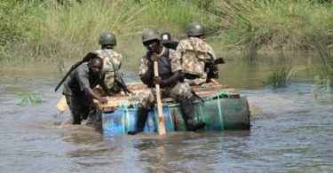 BAYELSA: Troops raid pirates, militants camp, kill 6, sink 3 attacking boats