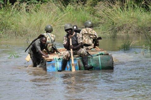 BAYELSA: Troops raid pirates, militants camp, kill 6, sink 3 attacking boats