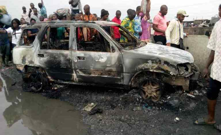 NSCDC officer, 2 others burnt as 2 motorcycles collide in Badagry