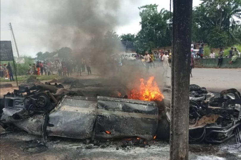 Passengers burnt beyond recognition in Anambra accident — FRSC
