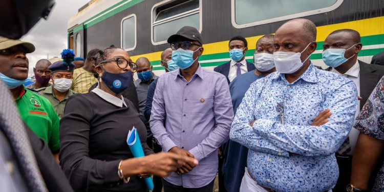 Amaechi, Sanwo-Olu visit train accident scene in Oshodi which killed father, son