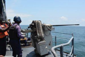 AUDIT TAKING: FOC, Western Naval Command tours ships, units, establishments to ascertain preparedness