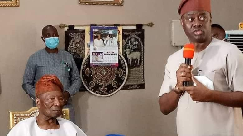 Makinde visits Ogbomosho, releases N100m for repair of Soun's palace