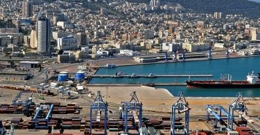 Cargo vessel bearing goods from the UAE arrives in Haifa Port