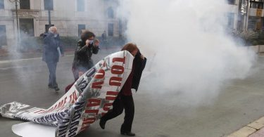 Athens police fire tear gas to disperse banned rally