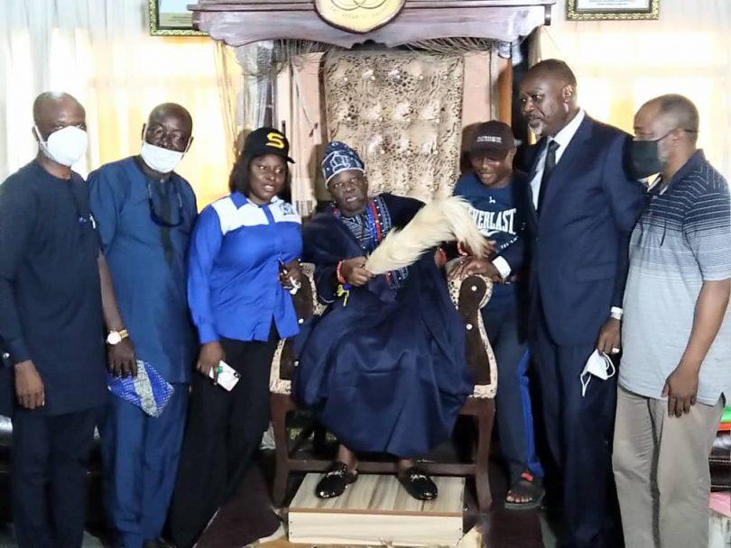When NIWA visits the Akran of Badagry, Oba Menu Toyi 1