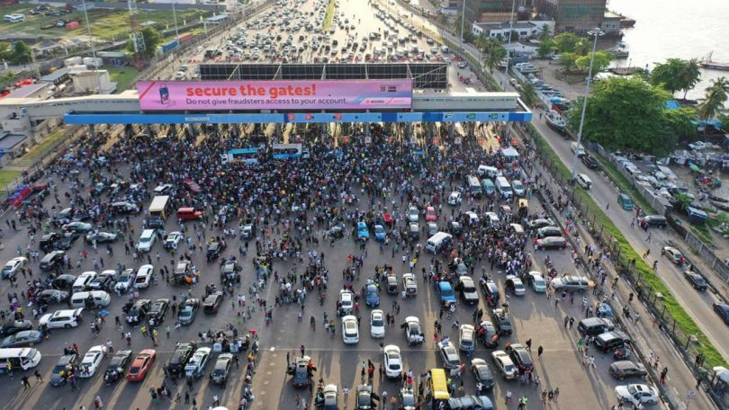 Army deployed at least 7 vehicles to Lekki Tollgate, CCTV reveals