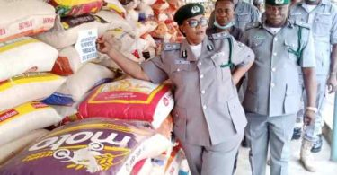 OYO/OSUN COMMAND: Customs intercepts 624 bags of rice, 214 kegs of petrol after Endsars protest