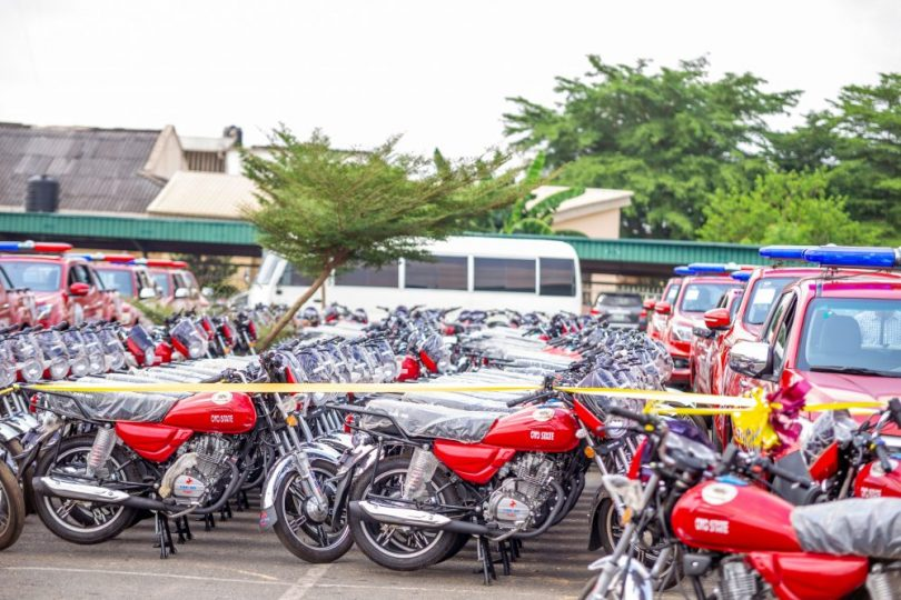 Amotekun: Makinde launches 33 vehicles, 396 motorcycles for smooth operation