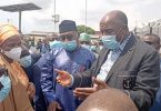 Looming Port congestion: Amaechi, Hassan Bello, others inspect Tin Can