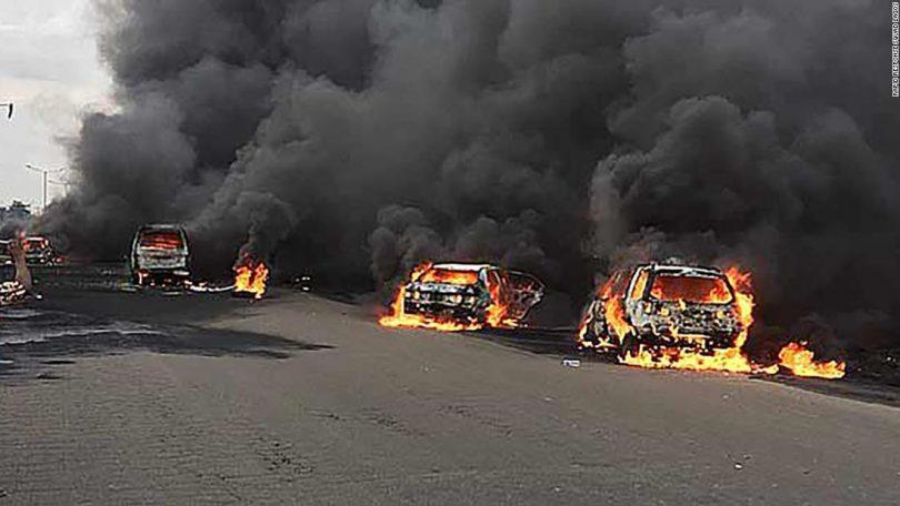 Tanker explodes in Lagos